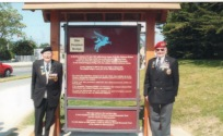 2009 - Wally LAWRENCE (1st Army) & Tony MARTIN - RMP at the Site of 'Pegasus Bridge'