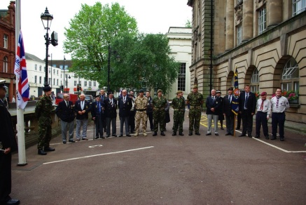 Flag raising ceremony - Walsall - 22.06.2009