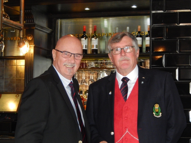 Chairman and Vice celebrating AGM results
